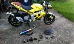 For sale or swaps gilera dna 50 with a full 70 kit bike