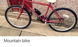 Mountain bike good condition. Was my wife hardly used.