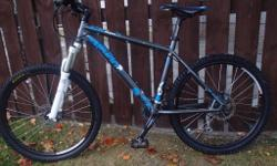 For sale is my son's hard-tail mountain bike. It was