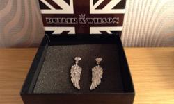 Butler& Wilson angel Wing earrings brand new so in