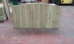 Super heavy duty bow top wooden fence panels pressure