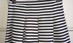 Black and white stripy pleated skirt Only been worn a
