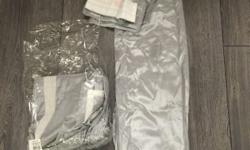 Next Curtains pleated silver, brand new and never used,
