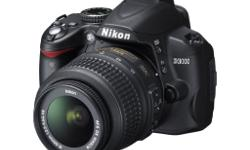 Nikon D3000 entry level DSLR in good condition. Comes