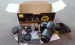 Great condition Nikon D60, boxed with extras. Sale