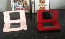 2 Nintendo ds lite consoles with games, Chargers, etc.