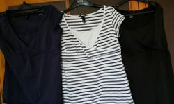 3 h&m large nursing tops with panel that pulls down for