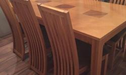 Outstanding quality, Oak Table with 6 chairs well