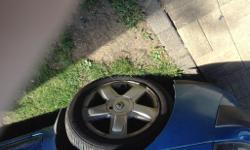 Set of four original Clio alloys all good tyres £80 can