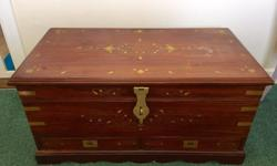 Lovely ottoman storage chest, with very detailed and