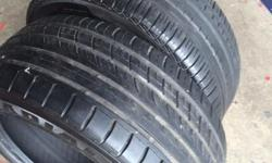 Pair of 235/45/17 tyres- 1x Pirelli with 5mm tread 1x
