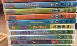 Job lot of 13 peppa pig DVDs, some haven't been used