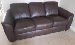 Superior peron chocolate 3 seater luxury murano leather