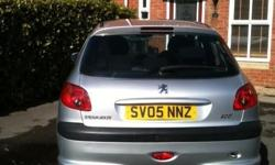 Good condition Peugeot 206, 1.4l, 80,000 miles, MOT