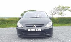 Peugeot 307 2.0 HDi S 2004 54 plate for sale in Black.