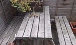 Picnic bench in good condition for sale. £45.