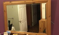 A lovely Pine wooded frame mirror. In great condition.