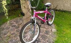 Pink Inspire Equator bicycle BMX style, size of the