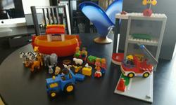 Playmobil bundle. Noah's ark and fire station (as seen
