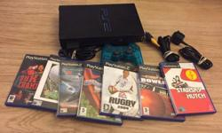 PlayStation 2 with games complete with memory card and