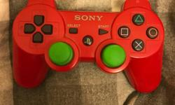 Selling a ps3 controller which is a red face, and black