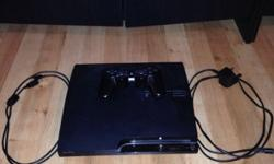 PlayStation 3 for sale. Power plug and controller