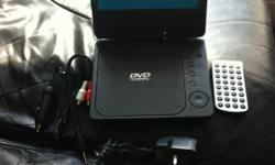 portable DVD play. only been used once comes with a