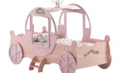 Princess carriage bed for sale with out mattress. Full