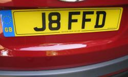 Private Registration J8 FFD (J8FF D) Immediately