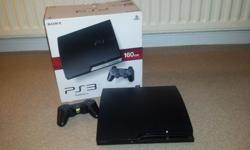 Ps3 slim 160gb with controller and box. Will also