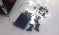 Selling ps 3 black slim in good condition all in good