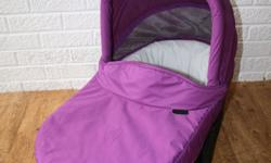 Mamas and Papas carrycot, purple with grey linen. Very