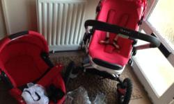 You are bidding on a lovely travel system, the maxi