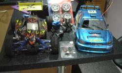 Hi, two remote control cars for sale with two digital