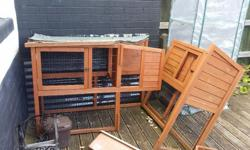 Large Corner Rabbit Hutch, suitable for two