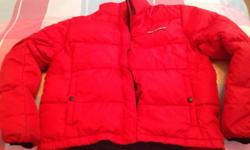 Red Ralph Lauren Polo Jeans puffer insulated jacket.
