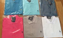Brand new Ralph Lauren polo shirts short sleeve. All