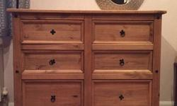 Real oak, 6 Drawers. Bottom 2 draws are bigger and