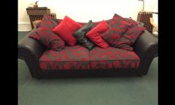 Stylish and contemporary stunning red/black faux