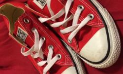 Red Converse. Hardly worn so are in great condition,
