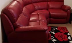Red leather sofa for sale, bought just over 2 years ago