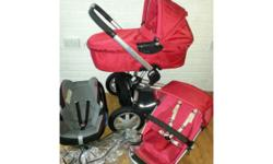 Unisex Quinny Buzz three wheeled full travel system in