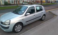 For sale Renault Clio it has Mot till April 2015 and