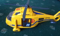 Rescue helicopter, with working sound buttons, winch