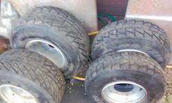 Road legal quad wheels came of a Yamaha blaster they