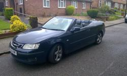 saab 93 convertible. 54 plate registered in 2005. only