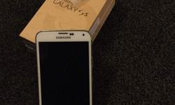 Samsung galaxy s5 on o2 White 16gb Excellent condition