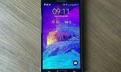 Samsung note 4 really good condition with fast charger