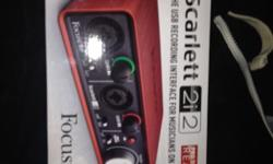 Brand new scarlet 2i2 external sound card, as you can