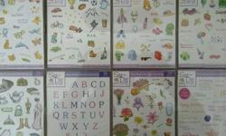 Set of 8 cases of rubber stamps for different occasions